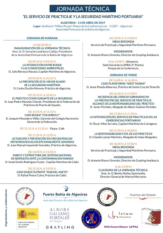 """Algeciras, sede de la jornada sobre """"El Servicio de Practicaje y la Seguridad Marítimo - Portuaria"""""""