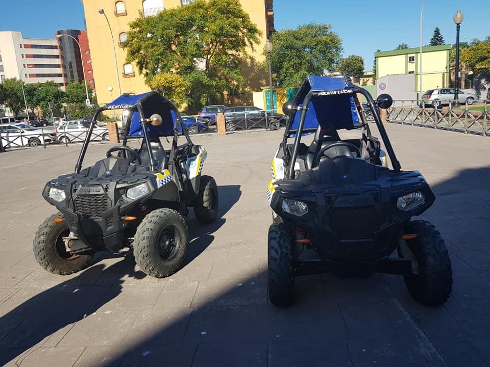 Doce agentes y ocho vehículos componen la dotación de seguridad para la temporada de playas en La Línea