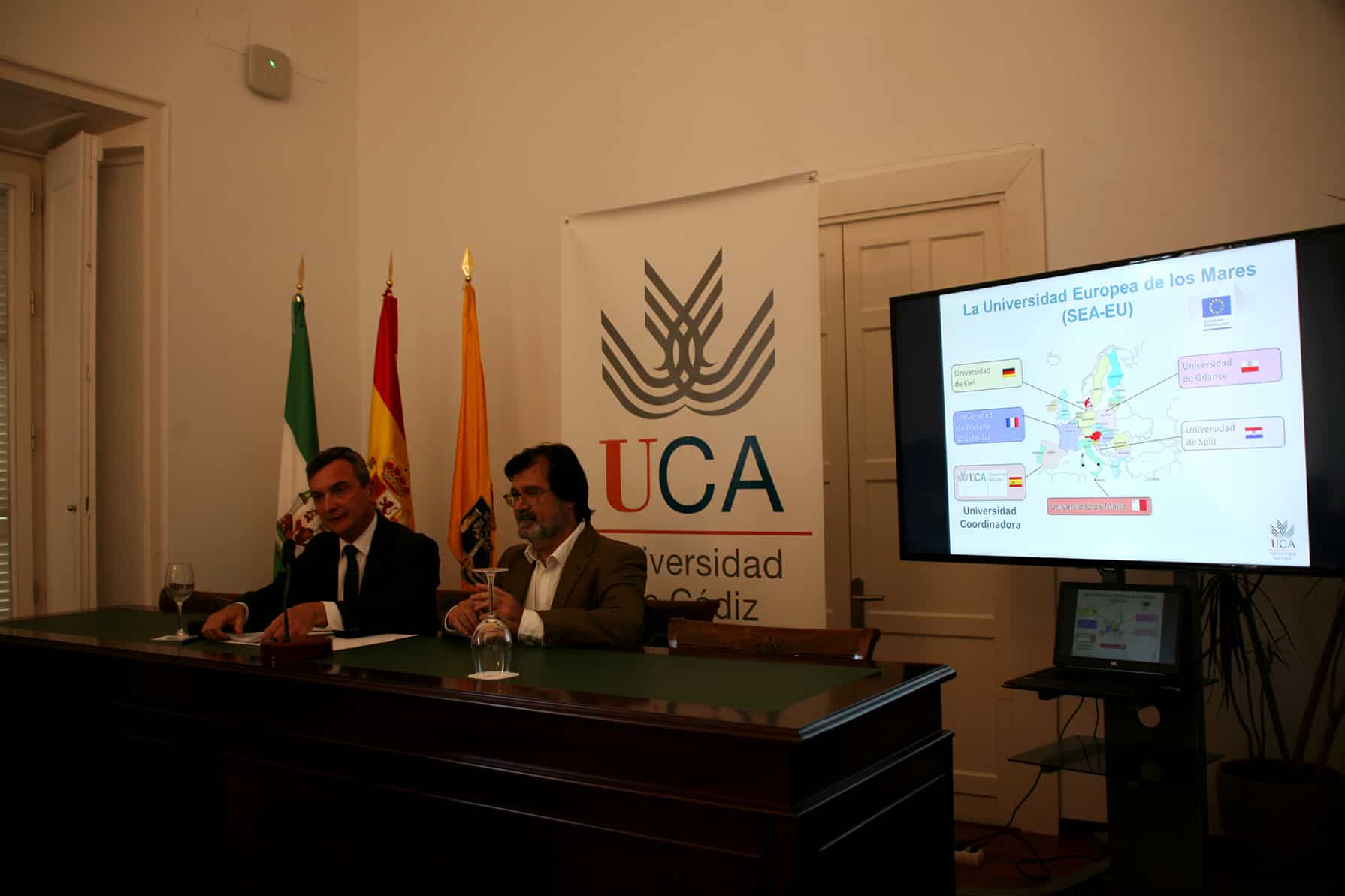 """La UCA desarrollará el proyecto """"La Universidad Europea de los Mares"""""""