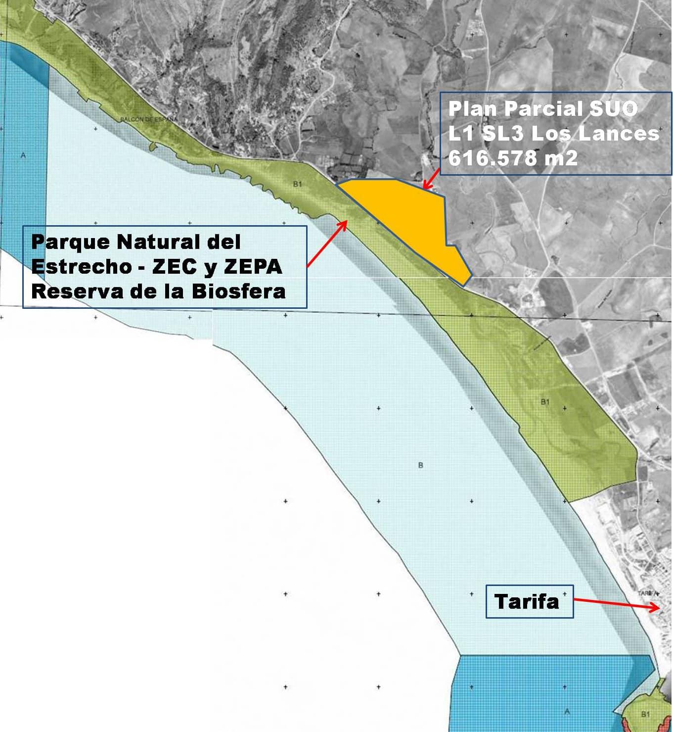 Una nueva macrourbanización pone en peligro las playas vírgenes de Tarifa