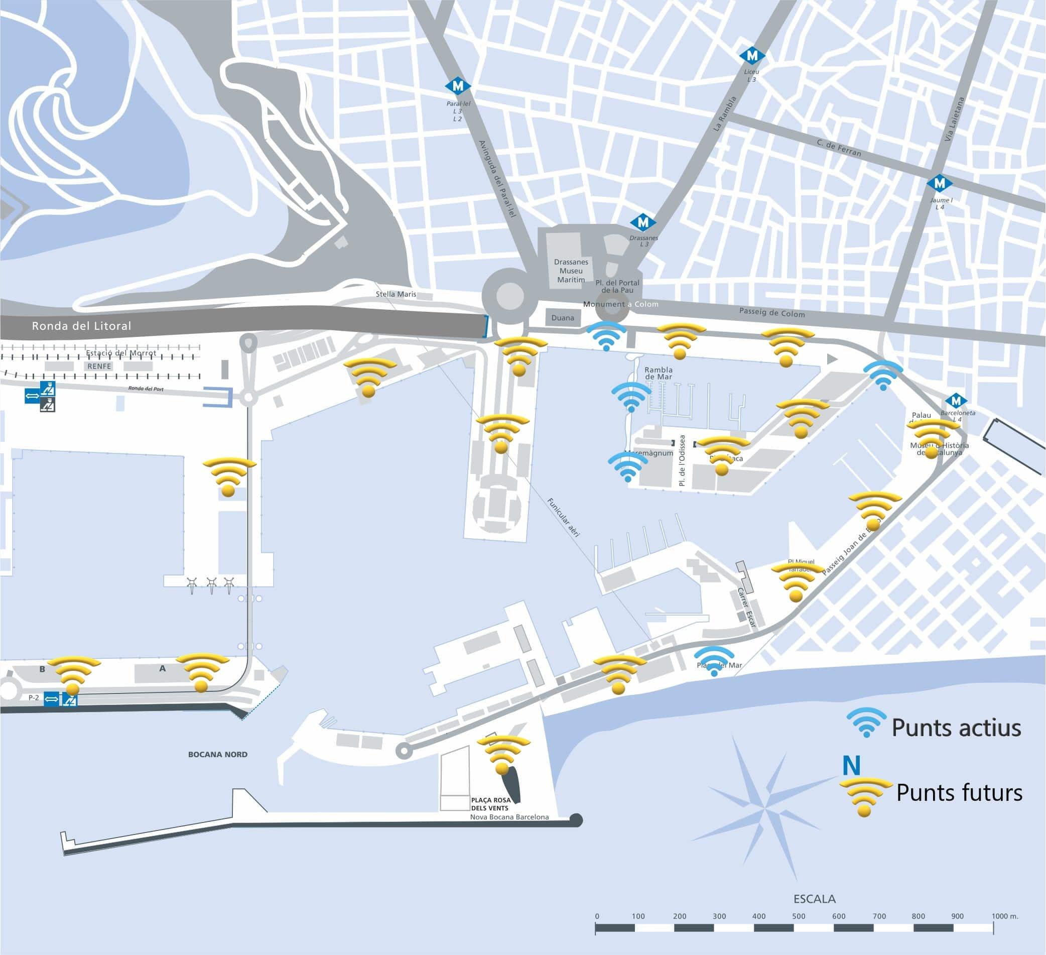 El Puerto de Barcelona inicia el despliegue de una red wifi gratuita