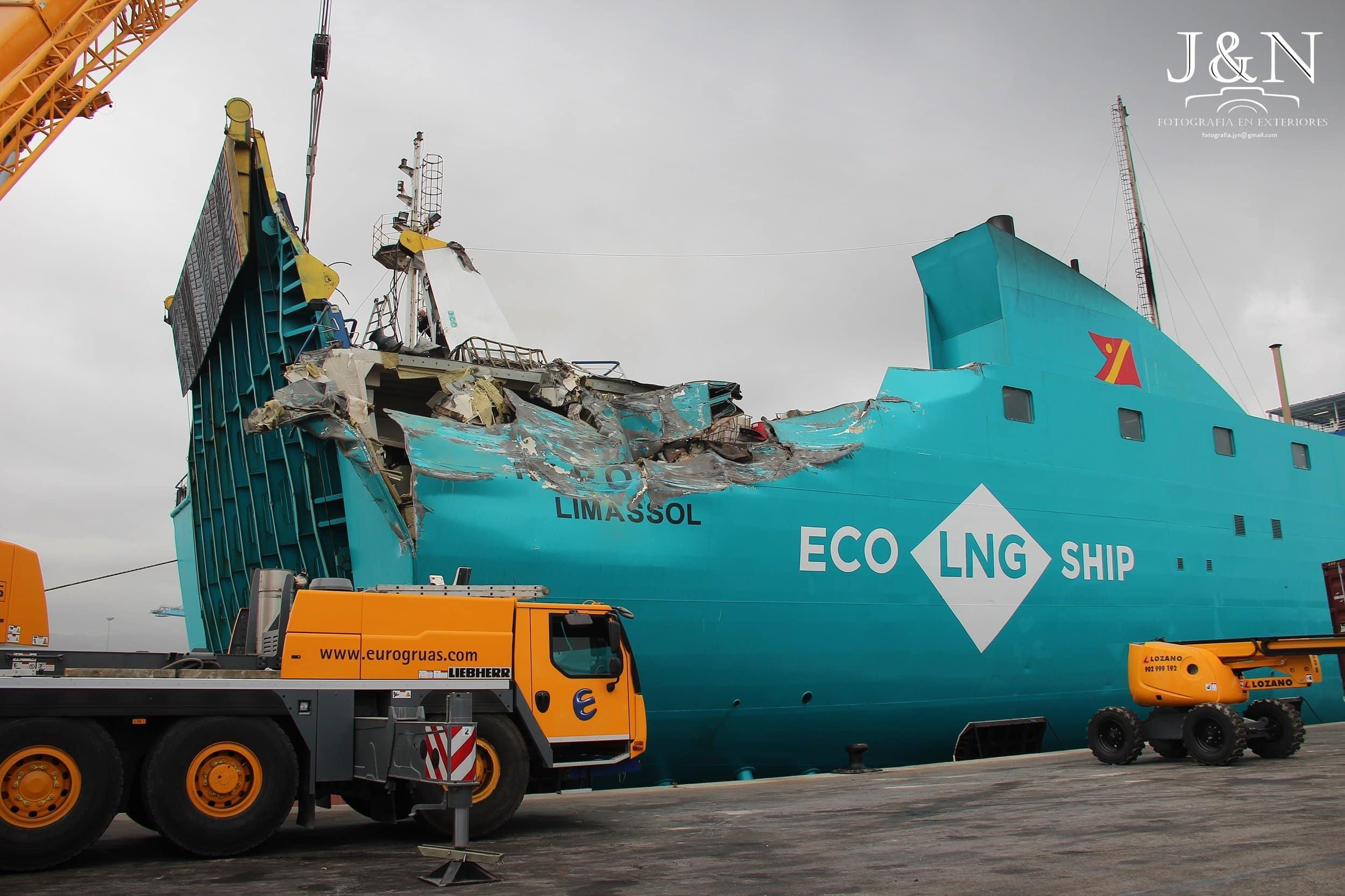 El Nápoles ya está siendo reparado en Algeciras