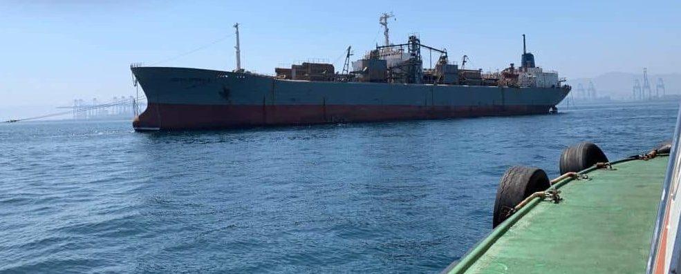 """El """"Ocean Sparkel"""" abandona el puerto de Algeciras"""
