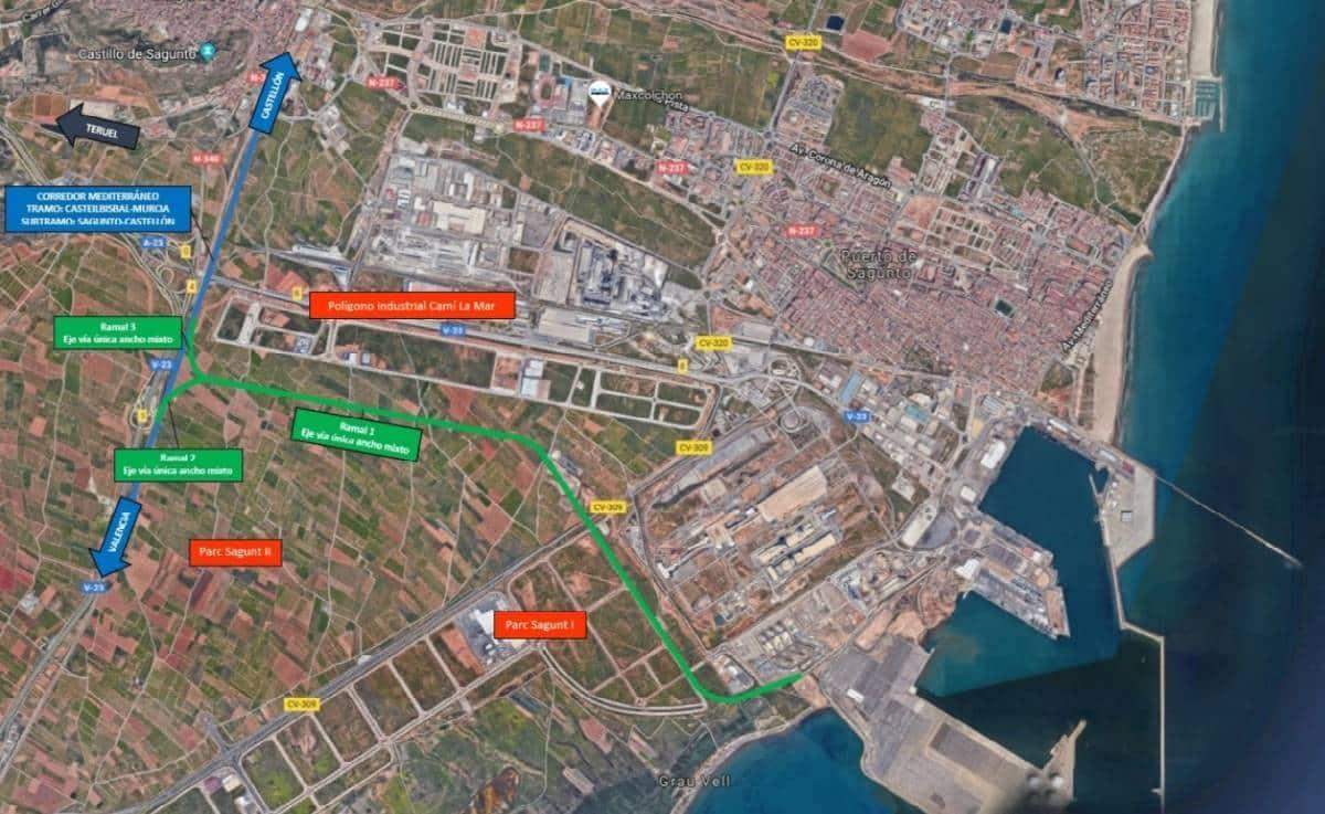 El puerto de Sagunto conectará con el Corredor Meditarréneo en 2021