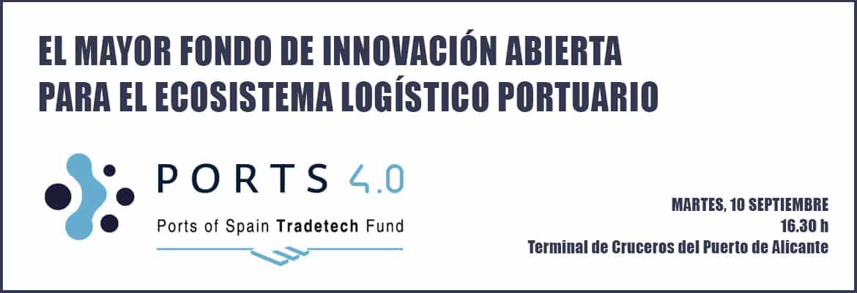 El Puerto de Alicante presentará a la comunidad portuaria el 'Fondo 4.0'