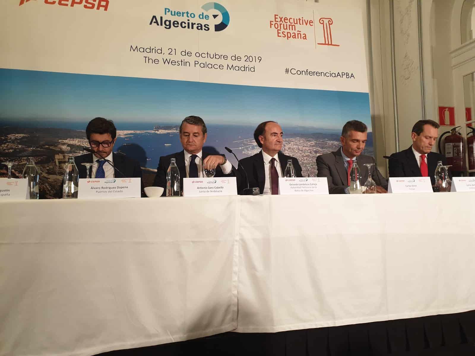 Landaluce ofrece una imagen moderna e innovadora del puerto de Algeciras ante un importante foro empresarial en Madrid