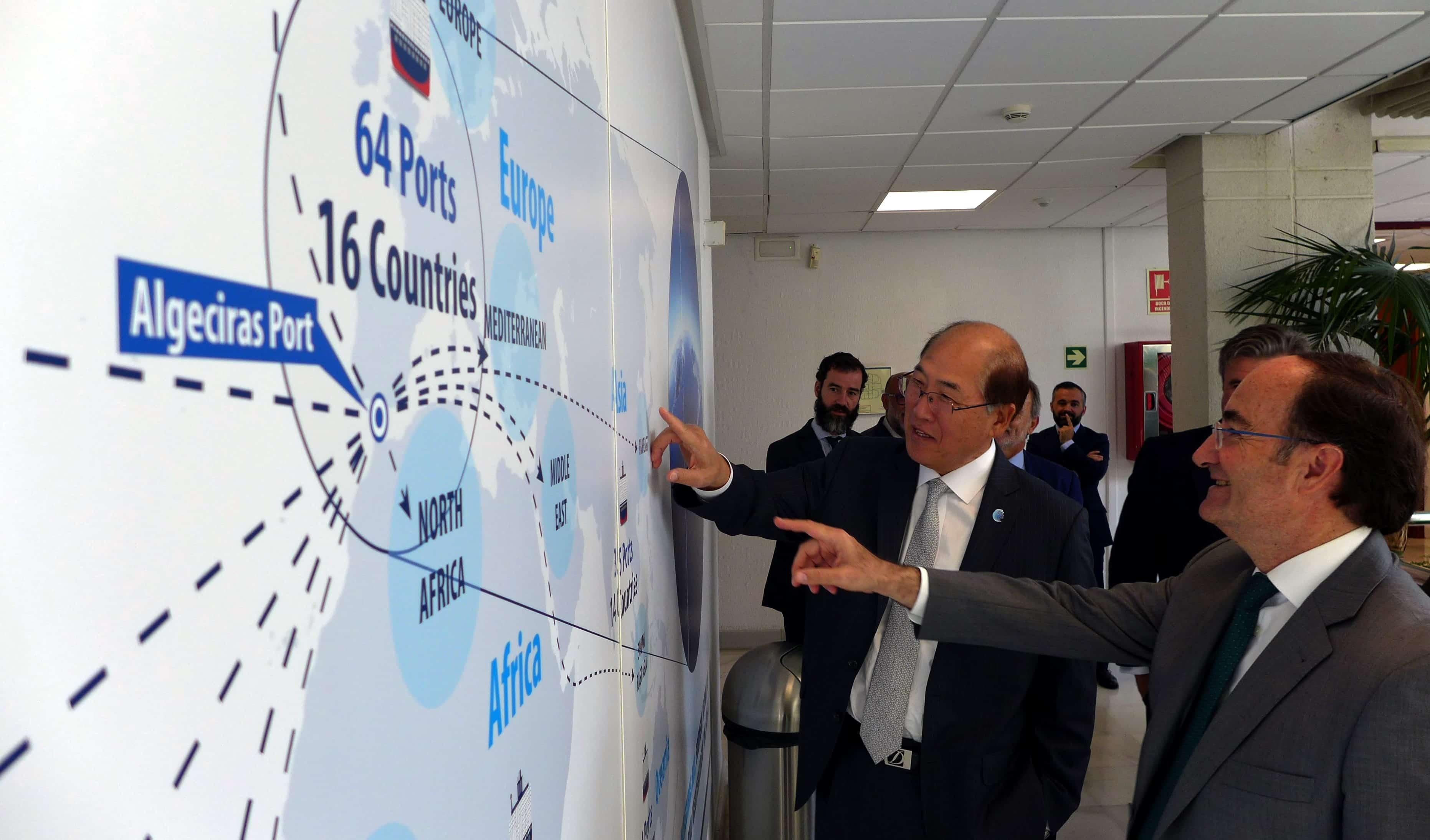Kitack Lim visita las instalaciones del primer puerto español por volumen de mercancías