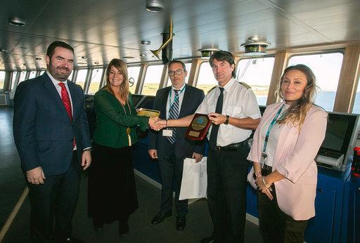 Balearia lleva a cabo la primera prueba de MTTS de GNL en España