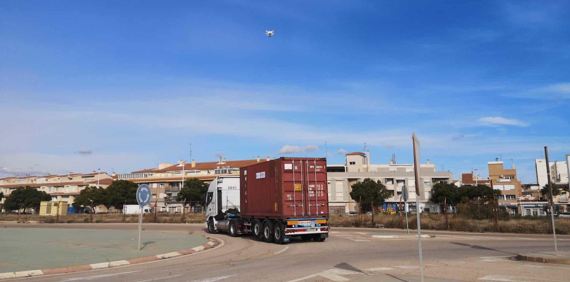 El proyecto de ciberseguridad SAURON realiza una prueba de demostración de drones en el puerto de Sagunto
