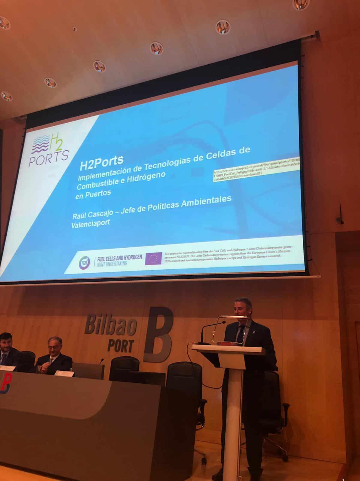 Valenciaport presenta en Bilbao su proyecto para convertirse en el primer puerto europeo en utilizar hidrógeno en sus terminales