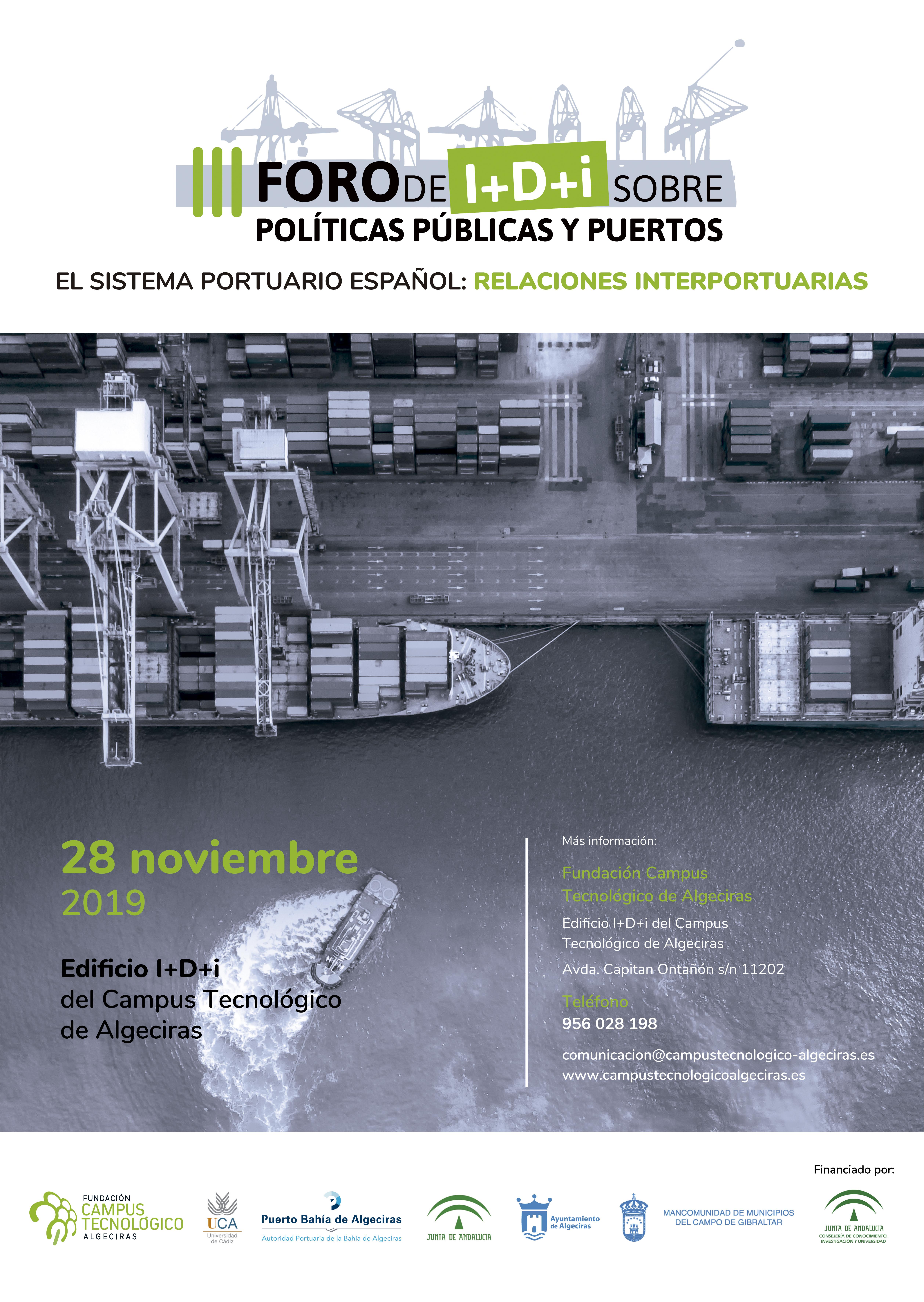 Algeciras será sede del III Foro sobre políticas públicas y puertos