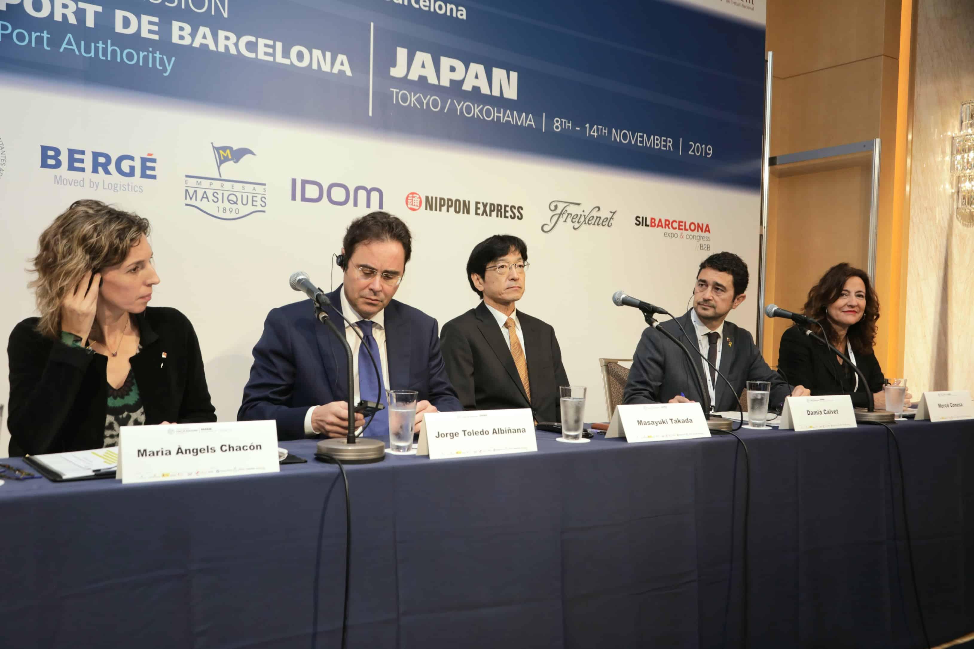 Japón aspira a incrementar su comercio con Europa a través del Puerto de Barcelona