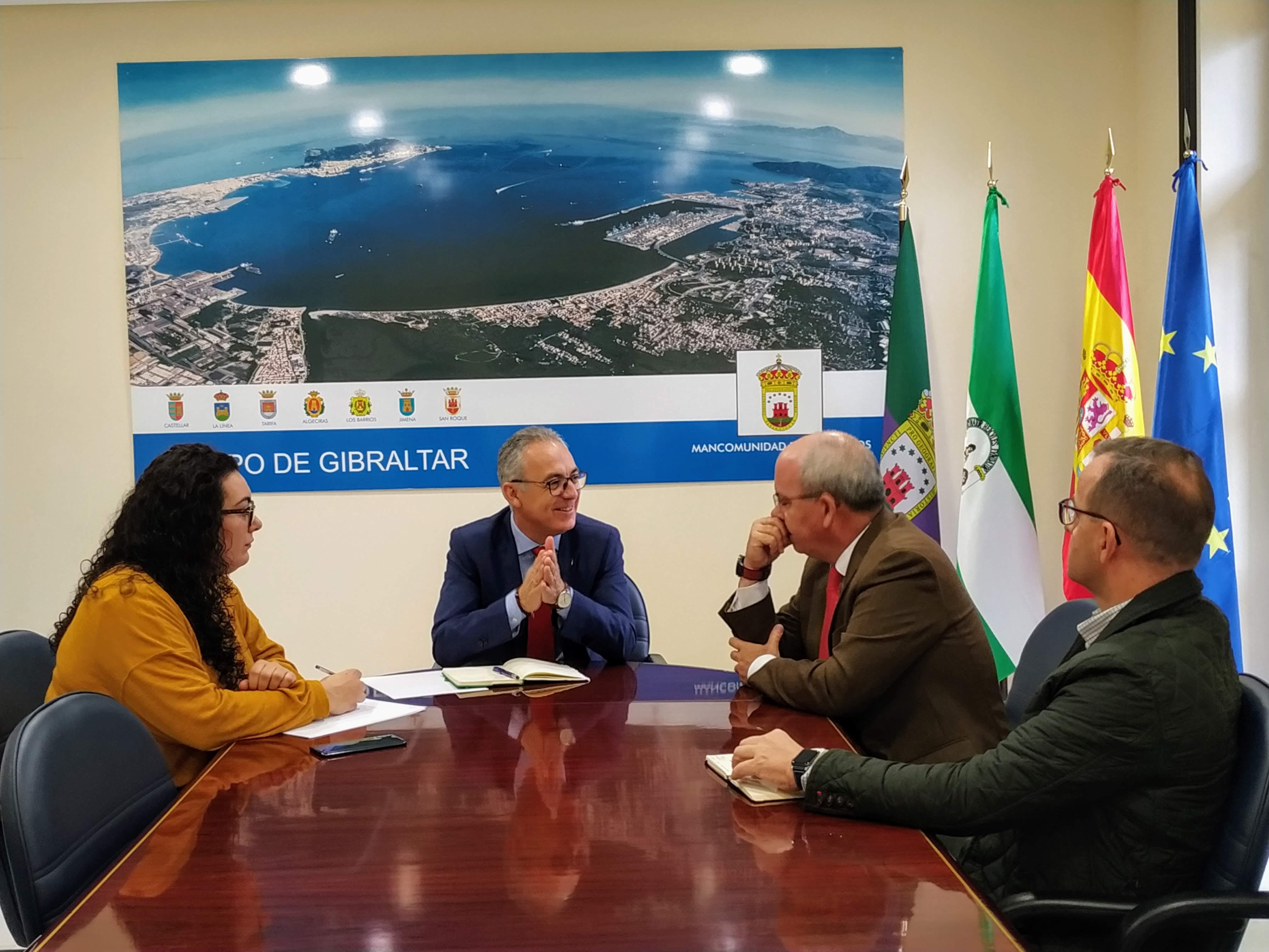La Mancomunidad y la Confederación de Empresarios de Cádiz buscan sinergias para el fomento del empleo