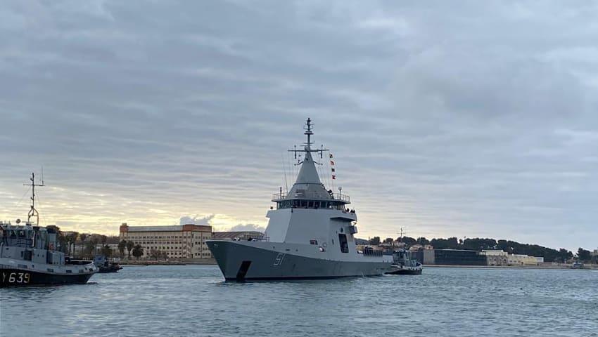 """El Estrecho, paso del patrullero oceánico ARA """"Bouchard"""", adquirido por Argentina a Francia"""