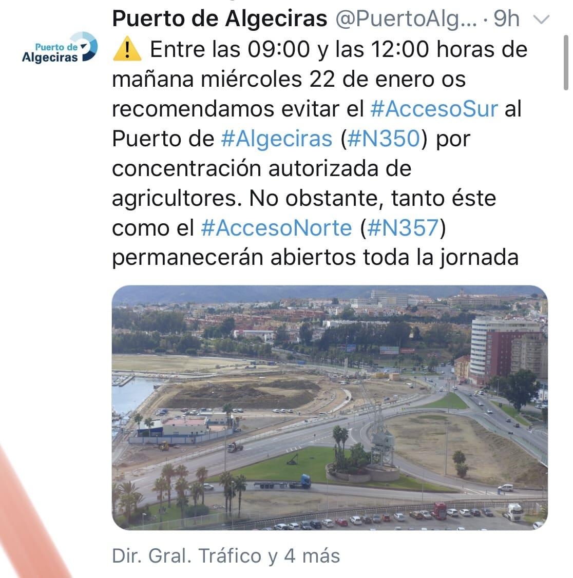 Productores de toda España se citan para protestar en el puerto de Algeciras
