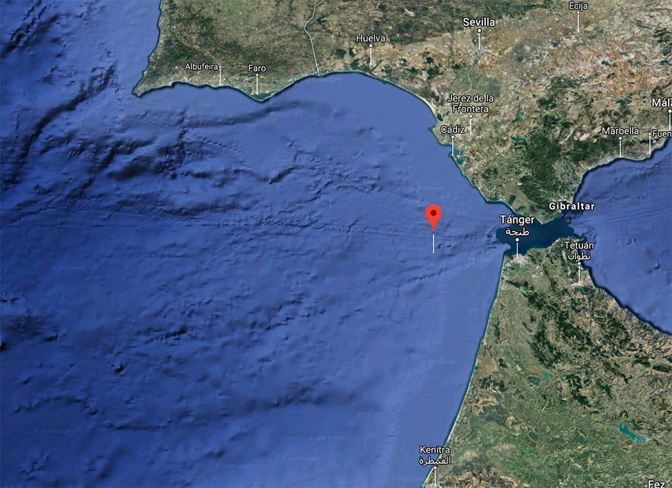 """Tarifa Radio solicita la colaboración de los buques que naveguen cerca de las coordenadas de la radiobaliza del """"Rúa Mar"""""""