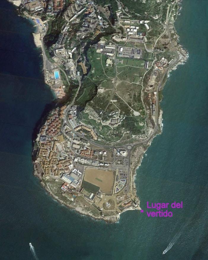 Agaden denuncia un nuevo vertido al mar procedente de Gibraltar