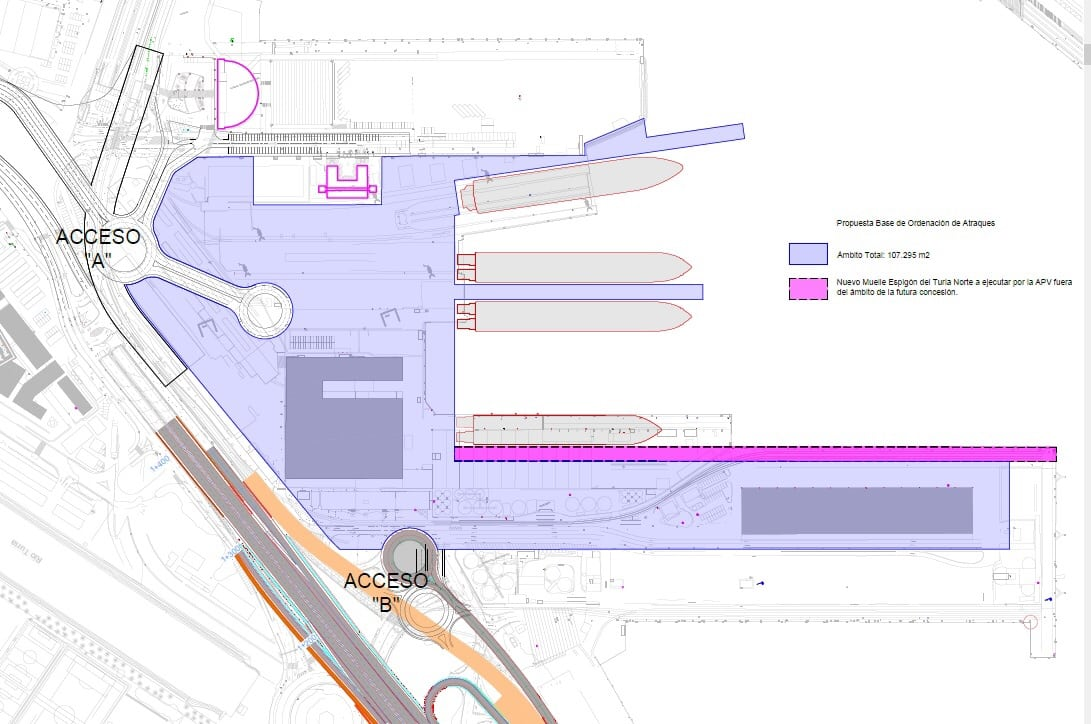 Avances en la nueva terminal de pasajeros del puerto de Valencia