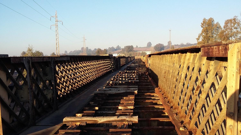 Licitada por 300.000 euros la restauración del antiguo puente del ferrocarril de Niebla