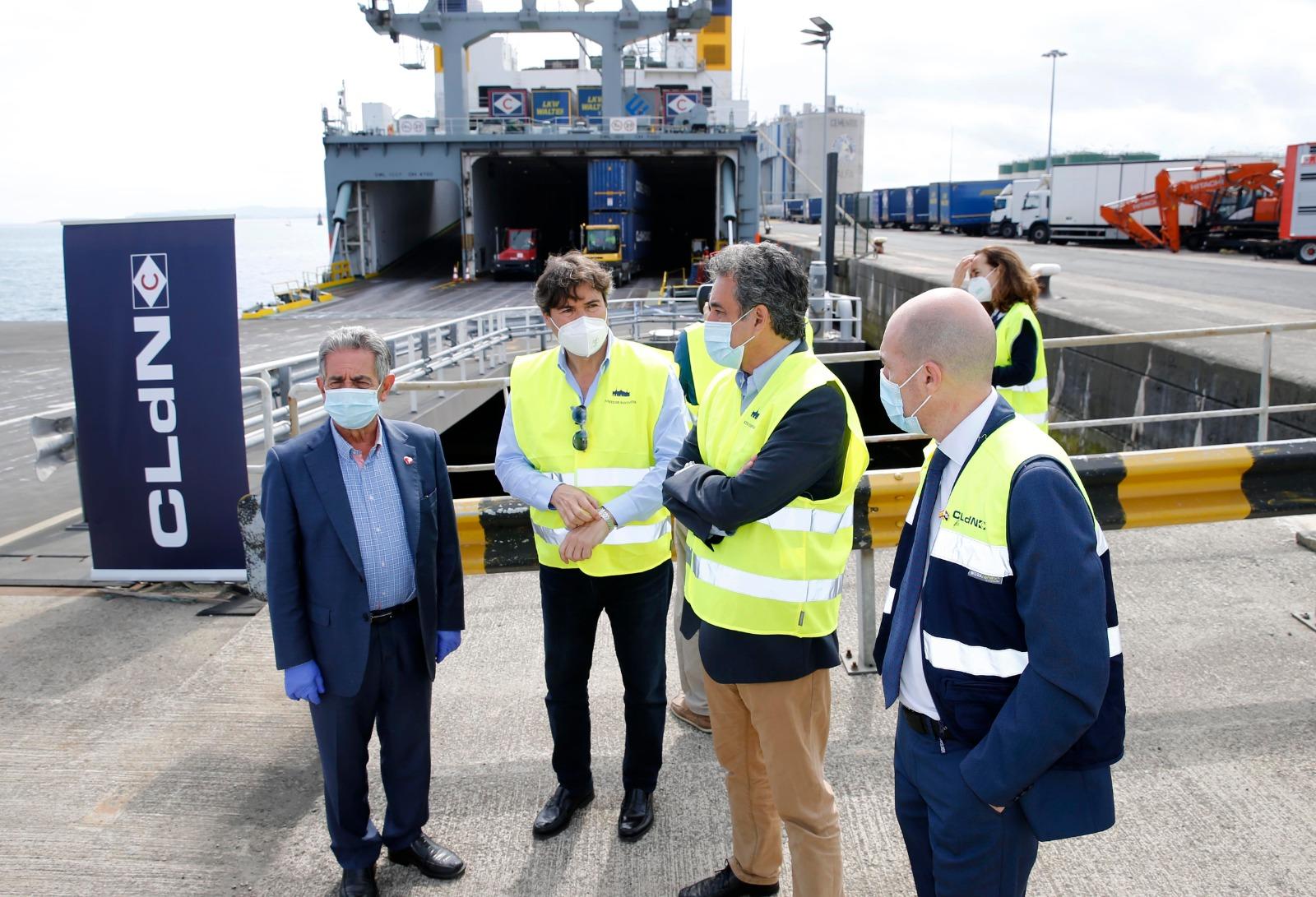 Santander cuenta ya con una nueva conexión con el puerto de Cork