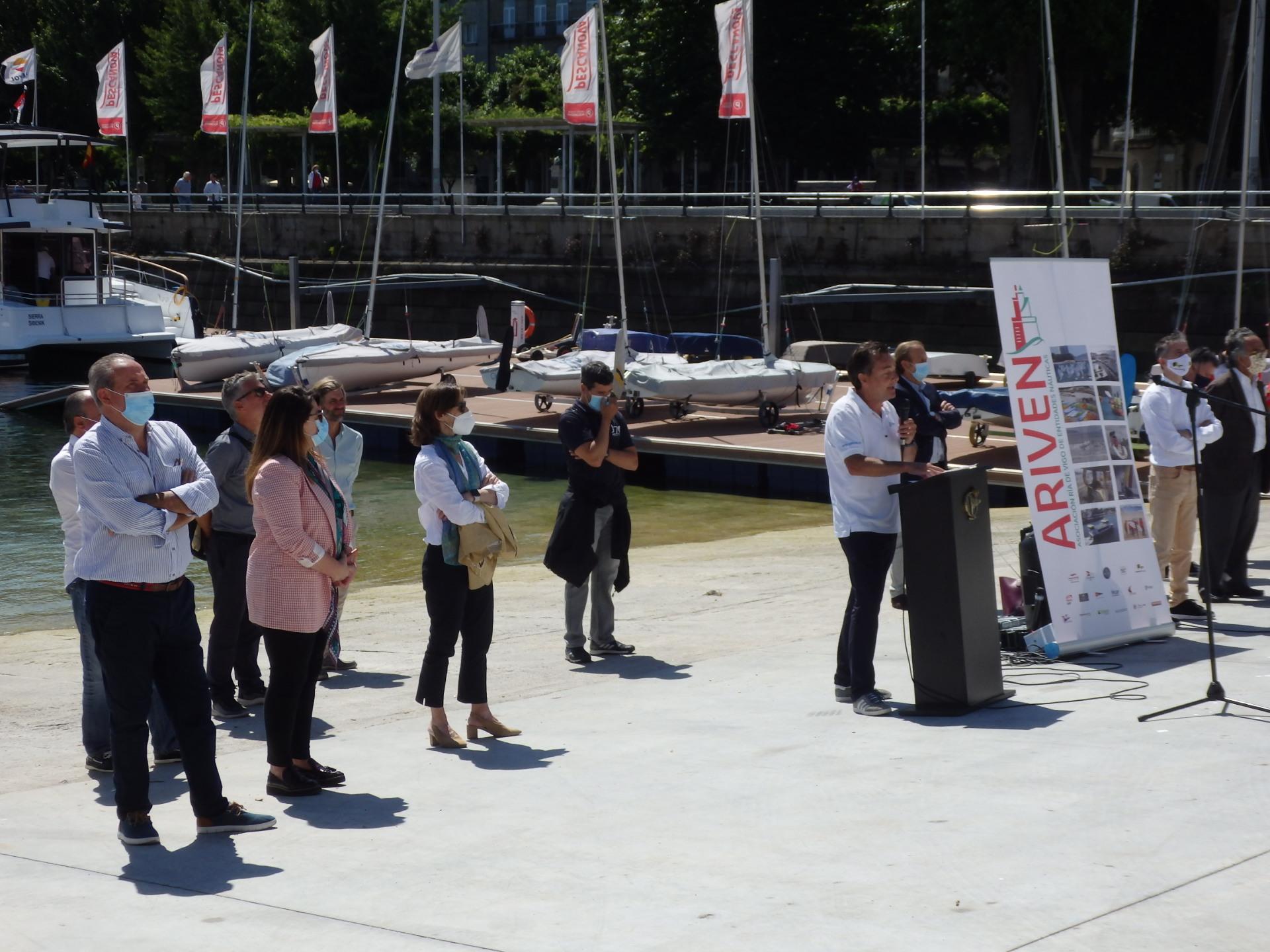 La Asociación Ría de Vigo de Entidades Náuticas (ARIVEN) realiza una presentación pública para celebrar la reactivación de la actividad