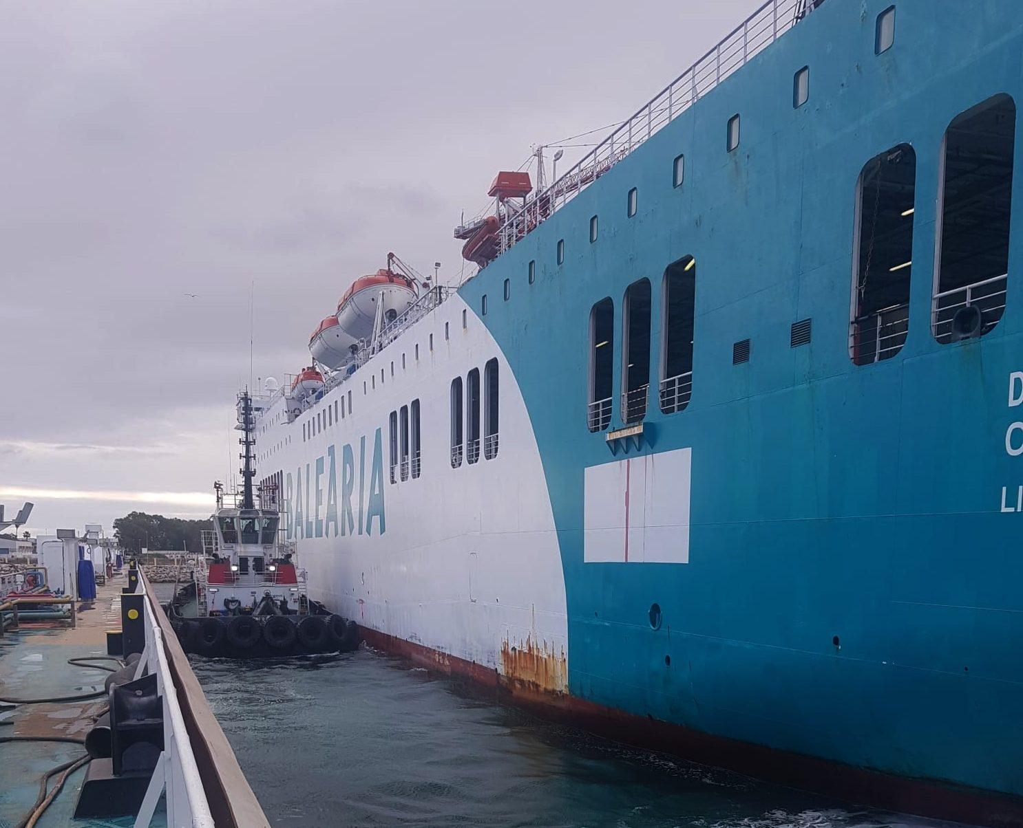 El Denia Ciudad Creativa, primer buque `español´ en recalar en el Crislaube