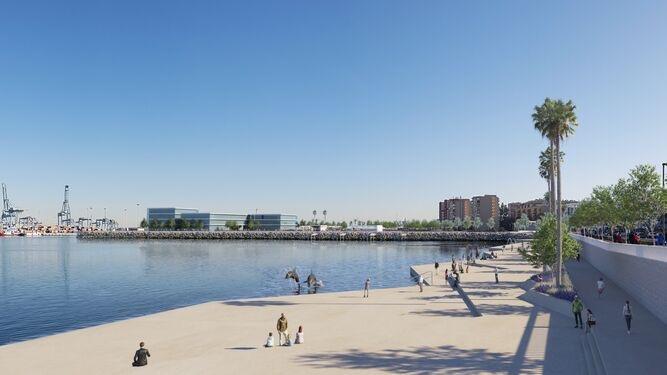 El alcalde de Algeciras, satisfecho con el desarrollo correcto del proyecto del Lago Marítimo