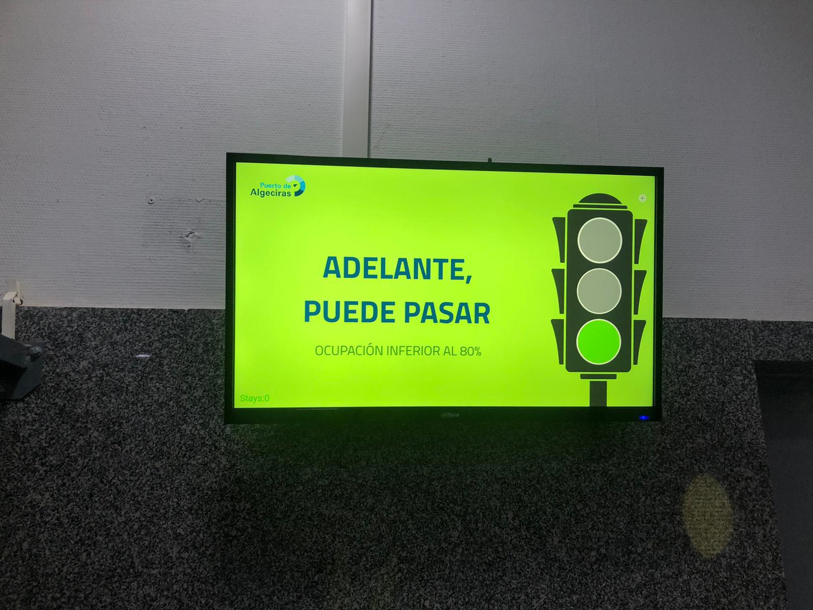 Nuevos paneles para el control del COVID19 en la estación marítima del puerto de Algeciras