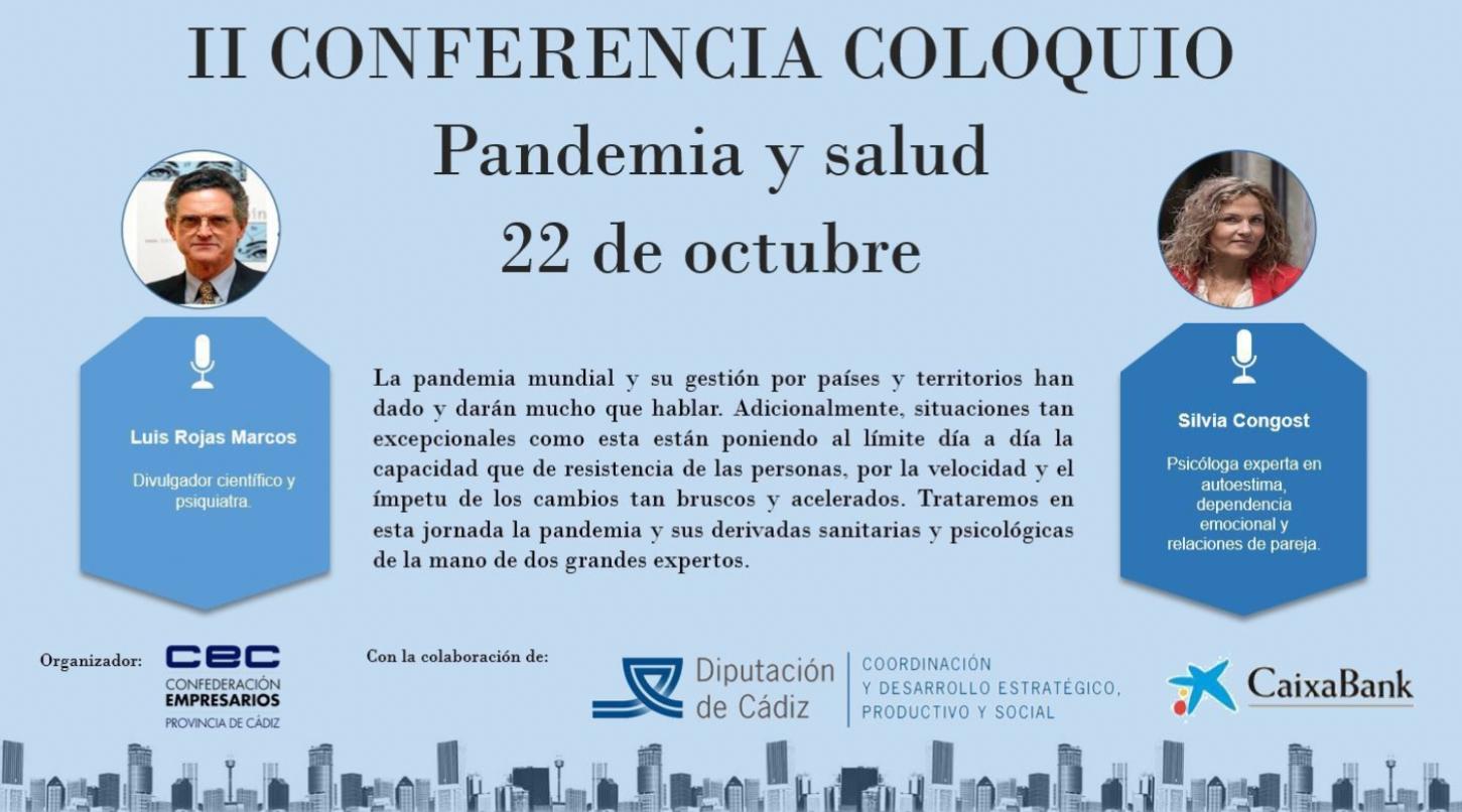 """La CEC celebra la conferencia """"Pandemia y salud"""", protagonizada por el psiquiatra Luis Rojas Marcos y la psicóloga Silvia Congost"""