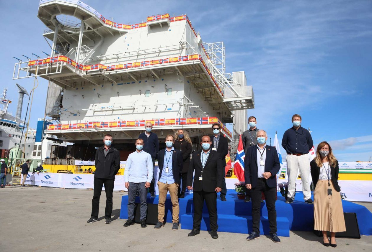 Navantia entrega su primer gran proyecto off-shore para Aibel y Equinor