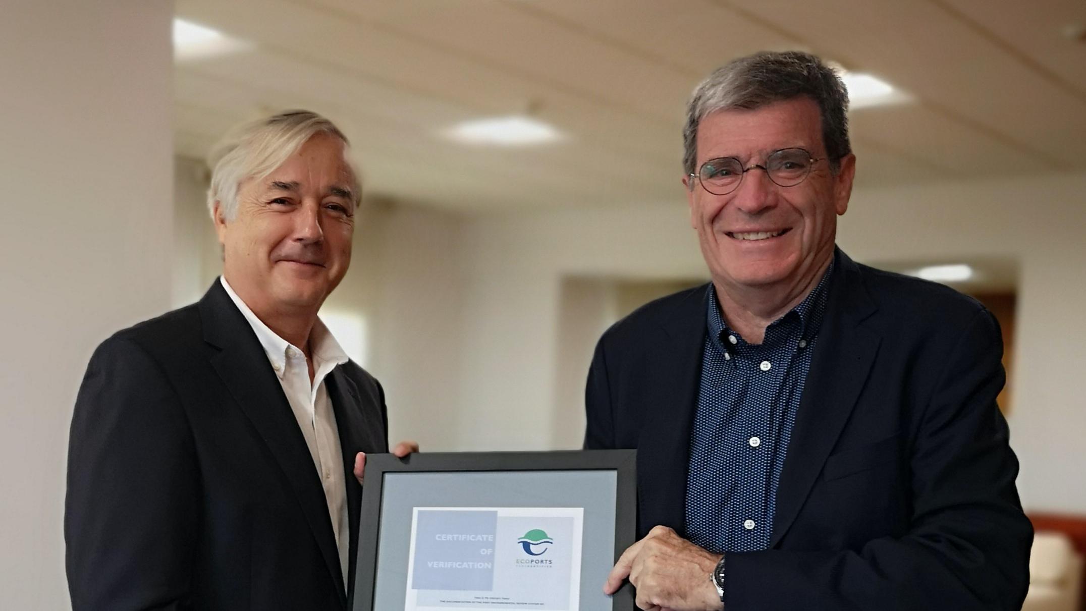 Los puertos europeos reconocen la excelencia medioambiental de Valenciaport