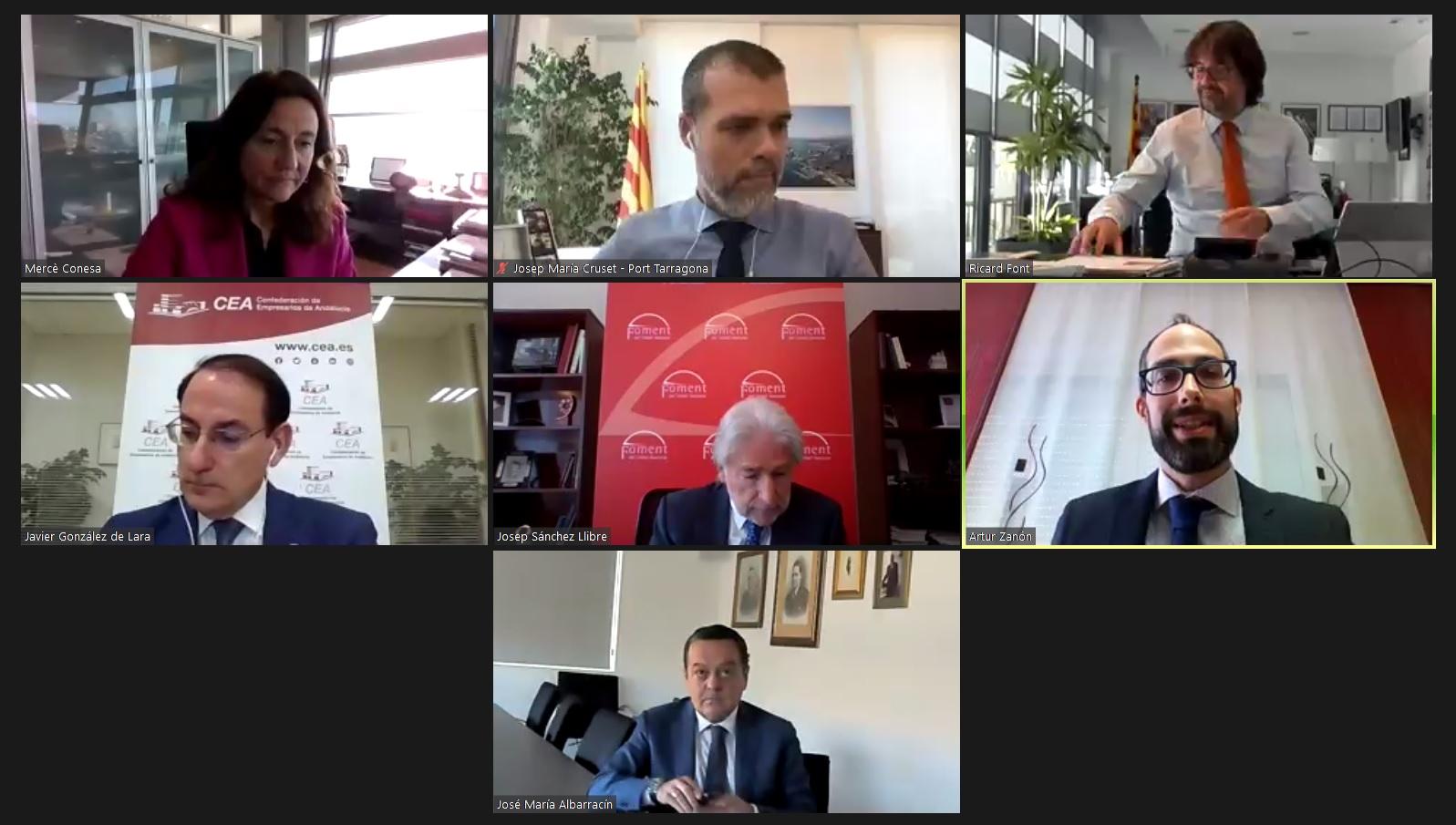 El presidente del Puerto de Tarragona defiende el impulso del transporte intermodal en el VII Encuentro del Corredor del Mediterráneo