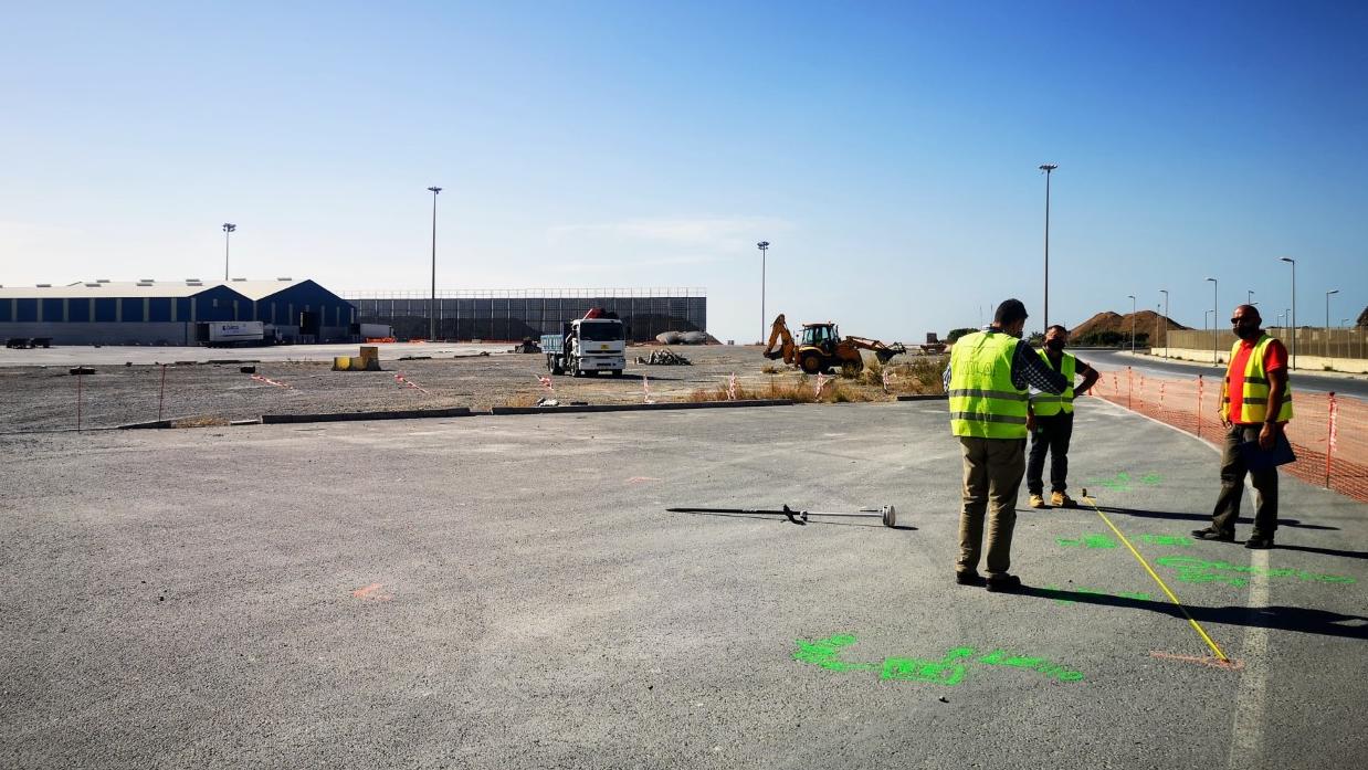 Arrancan las obras de la Terminal de Tráfico Pesado del puerto de Almería