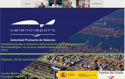 """Aurelio Martínez: """"En 2030 el Puerto de Valencia estará al máximo de su capacidad"""""""