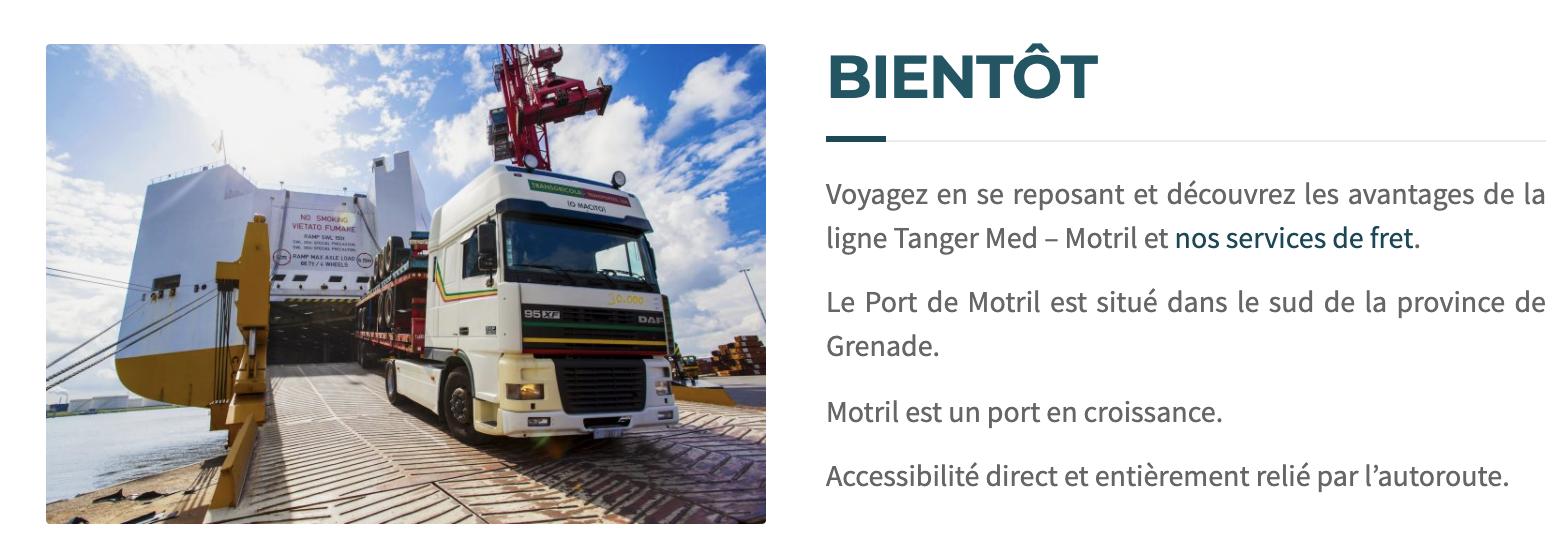 Morocco Cruise Line anuncia el inicio de una nueva ruta entre Tánger Med y Motril