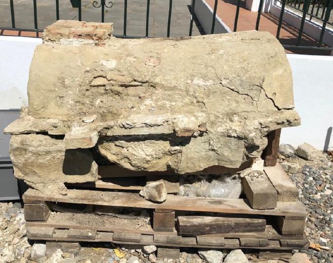 Fundación Cepsa y la Junta rehabilitan un monumento funerario romano de Carteia