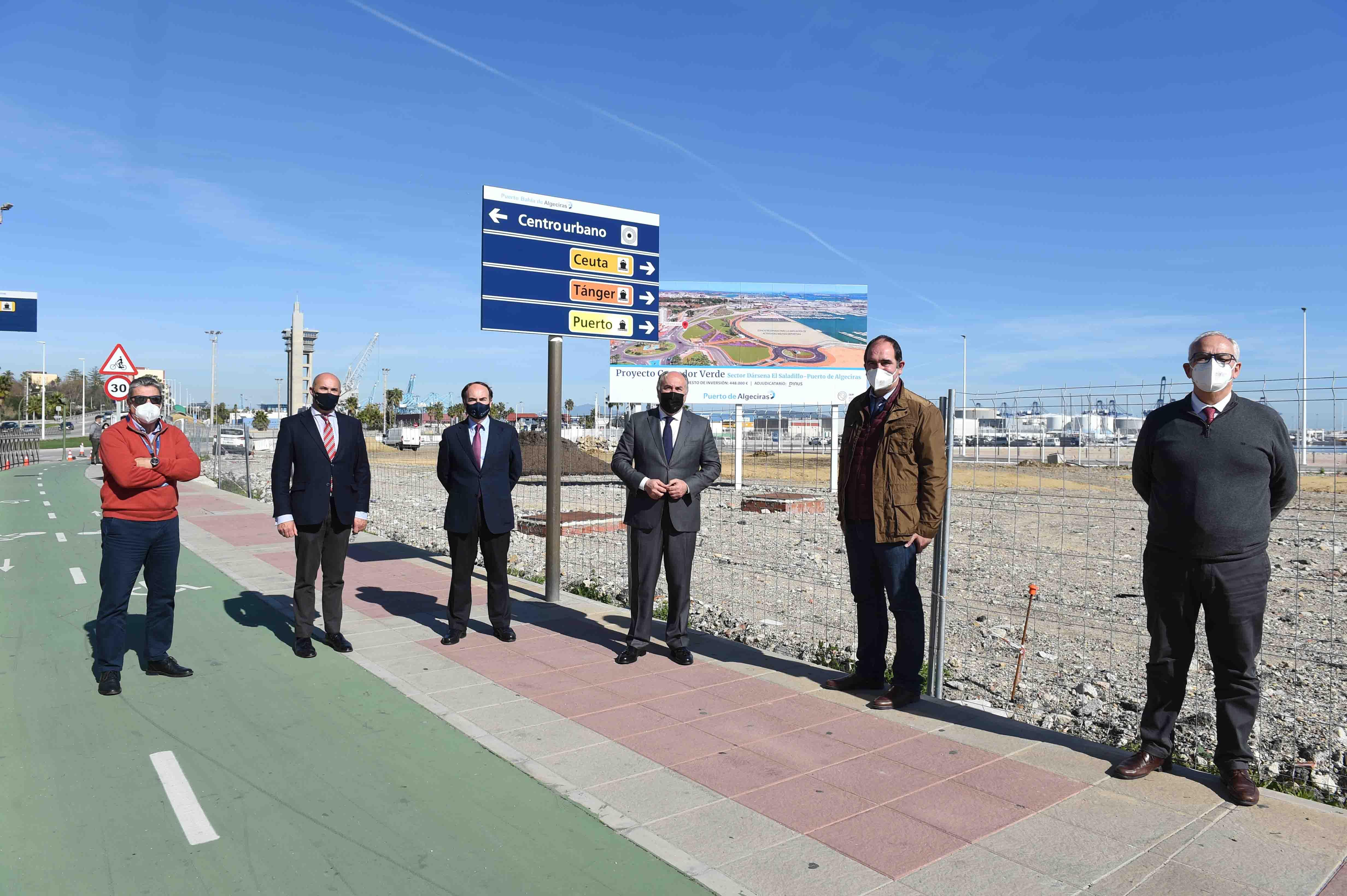 APBA y Ayuntamiento de Algeciras, satisfechos con el avance de las obras del Corredor Verde