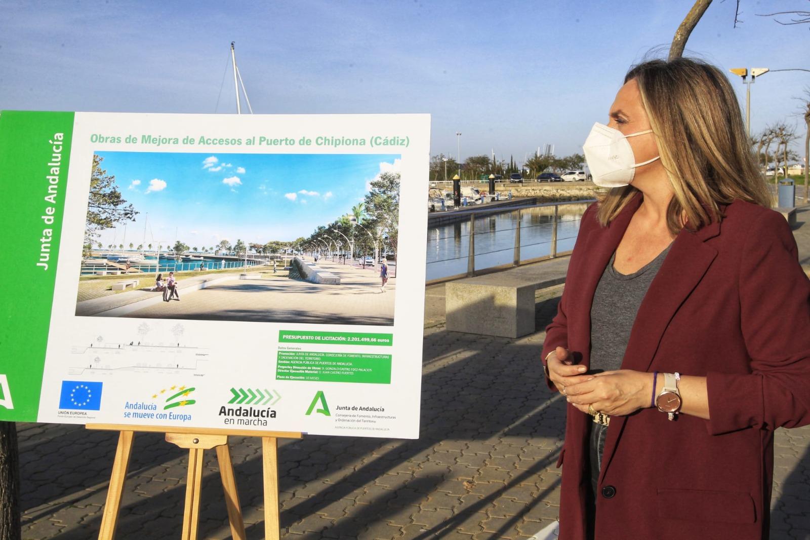 La Junta anuncia una inversión de 2,6 millones para integrar el puerto de Chipiona