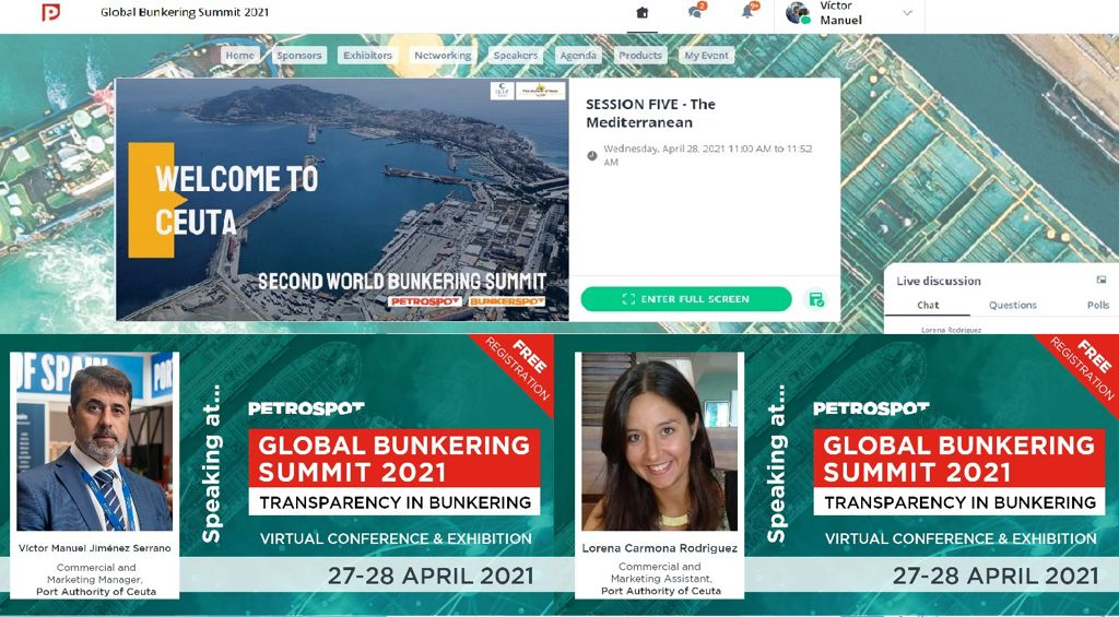 "Ceuta se ofrece al ""bunkering"" mundial en la 'Second Global Bunkering Summit'"