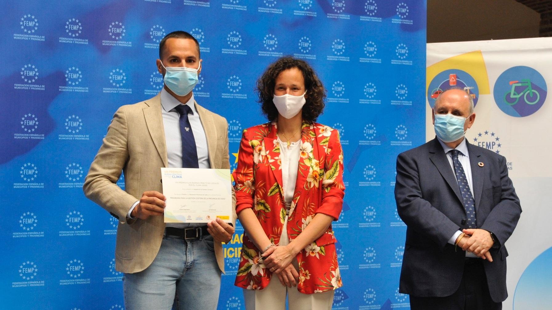 La FEMP premia a la Diputación de Cádiz por su programa para la gestión costera