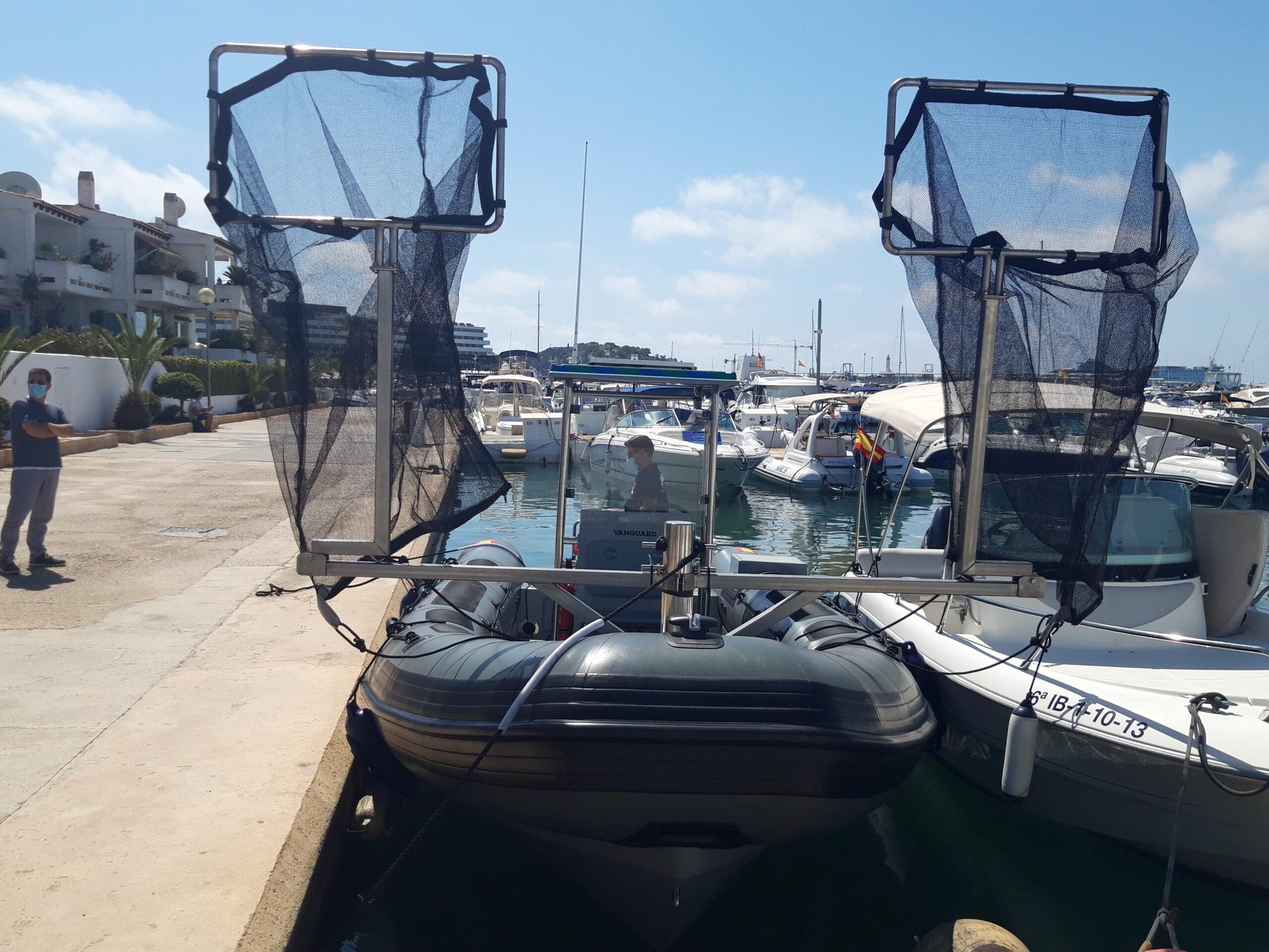 Los puertos de Baleares retiran una media de 8,67 kilos de residuos por día