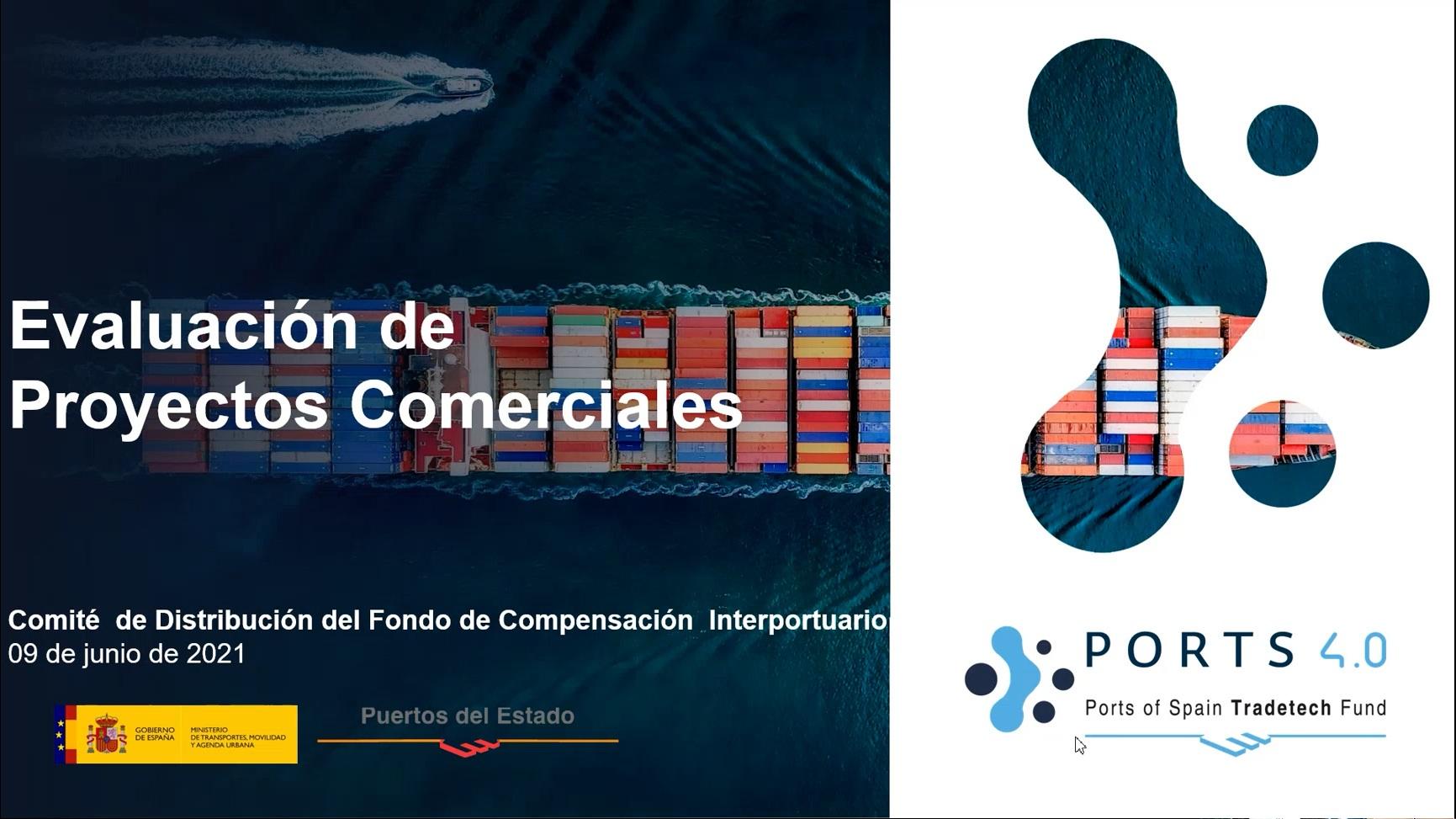Un total de nueve proyectos comerciales recibirán 4 millones de euros de subvenciones del Fondo Puertos 4.0