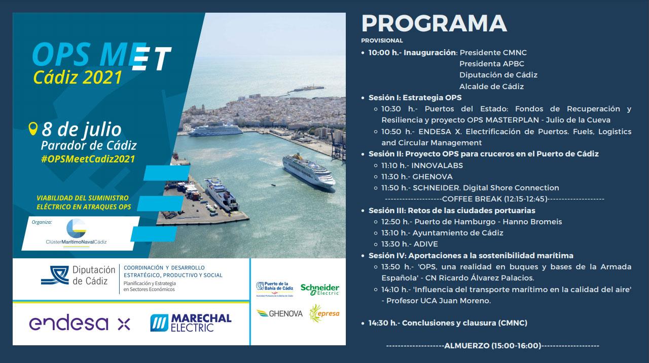 """Cádiz acogerá en julio la jornada internacional """"OPS Meet"""" sobre la conexión eléctrica de buques en puerto"""