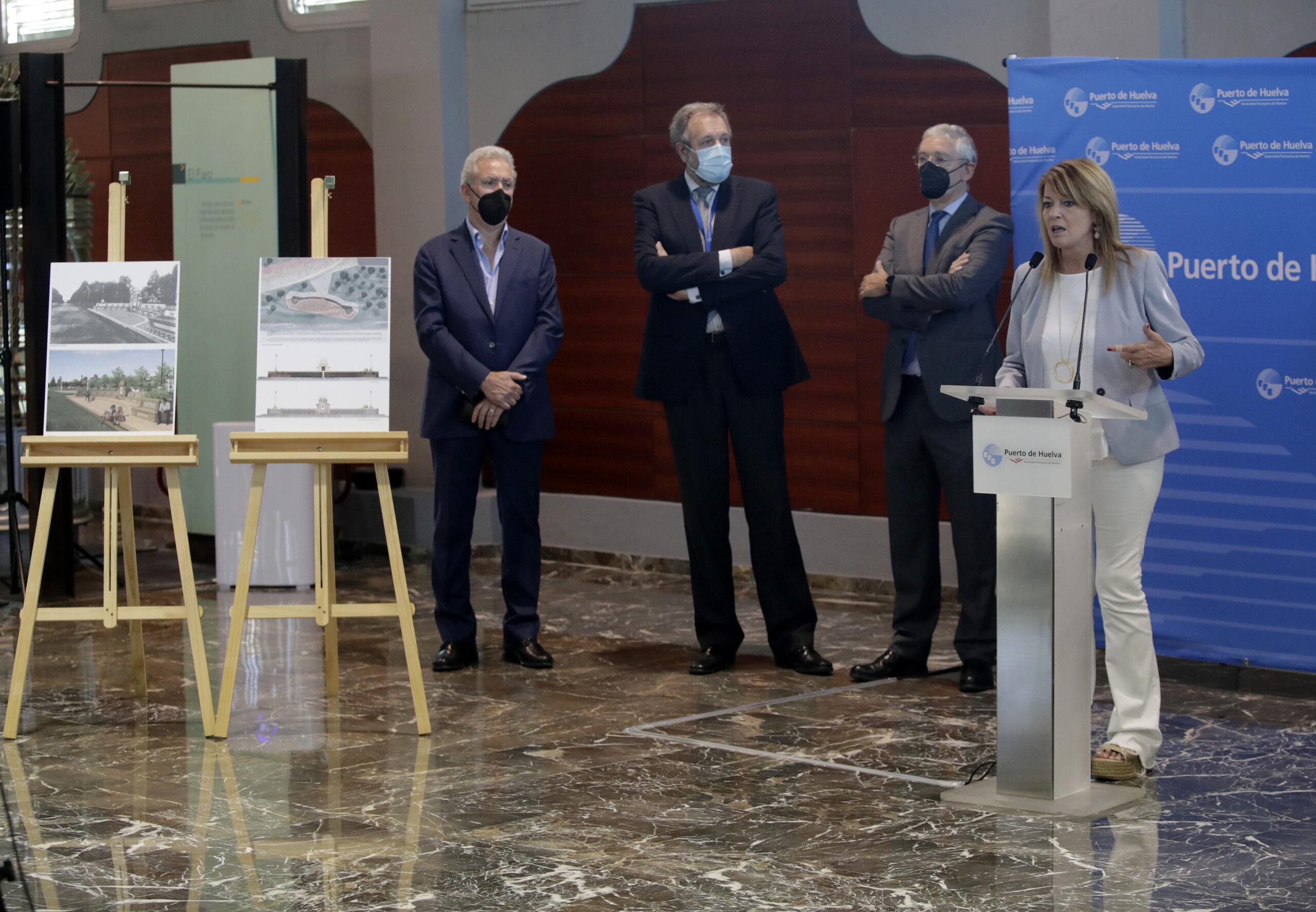 La Autoridad Portuaria de Huelva iniciará este mes las obras de la Fuente de las Naciones en el Paseo de la Ría