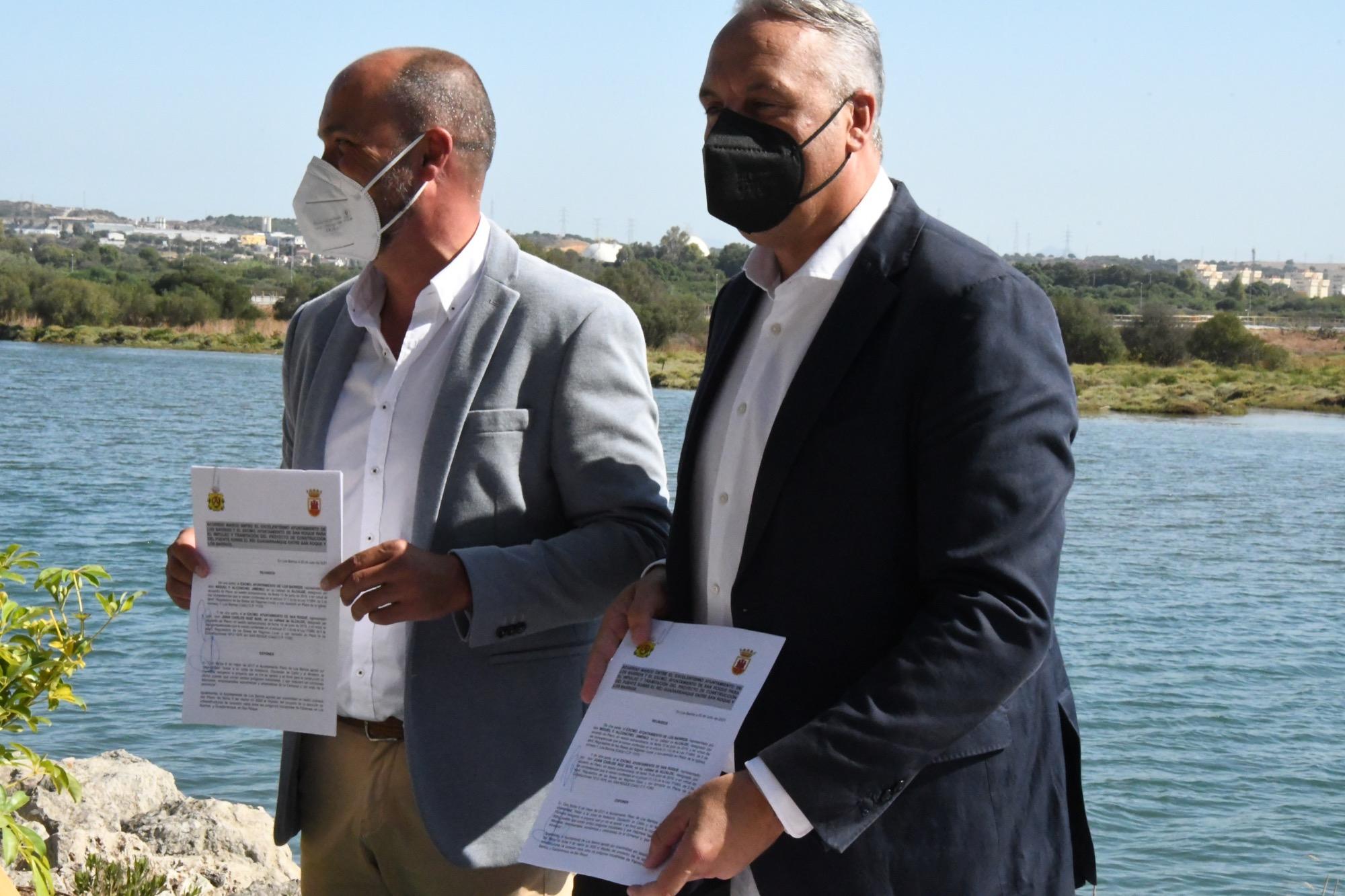 Los alcaldes de San Roque y Los Barrios impulsan el proyecto de ejecución de la conexión viaria entre los Polígonos Industriales de Palmones y Guadarranque