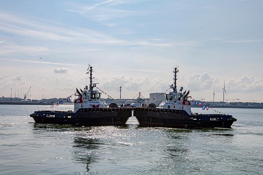 Boluda Towage pone en servicio cuatro nuevos remolcadores en el puerto belga de Zeebrugge