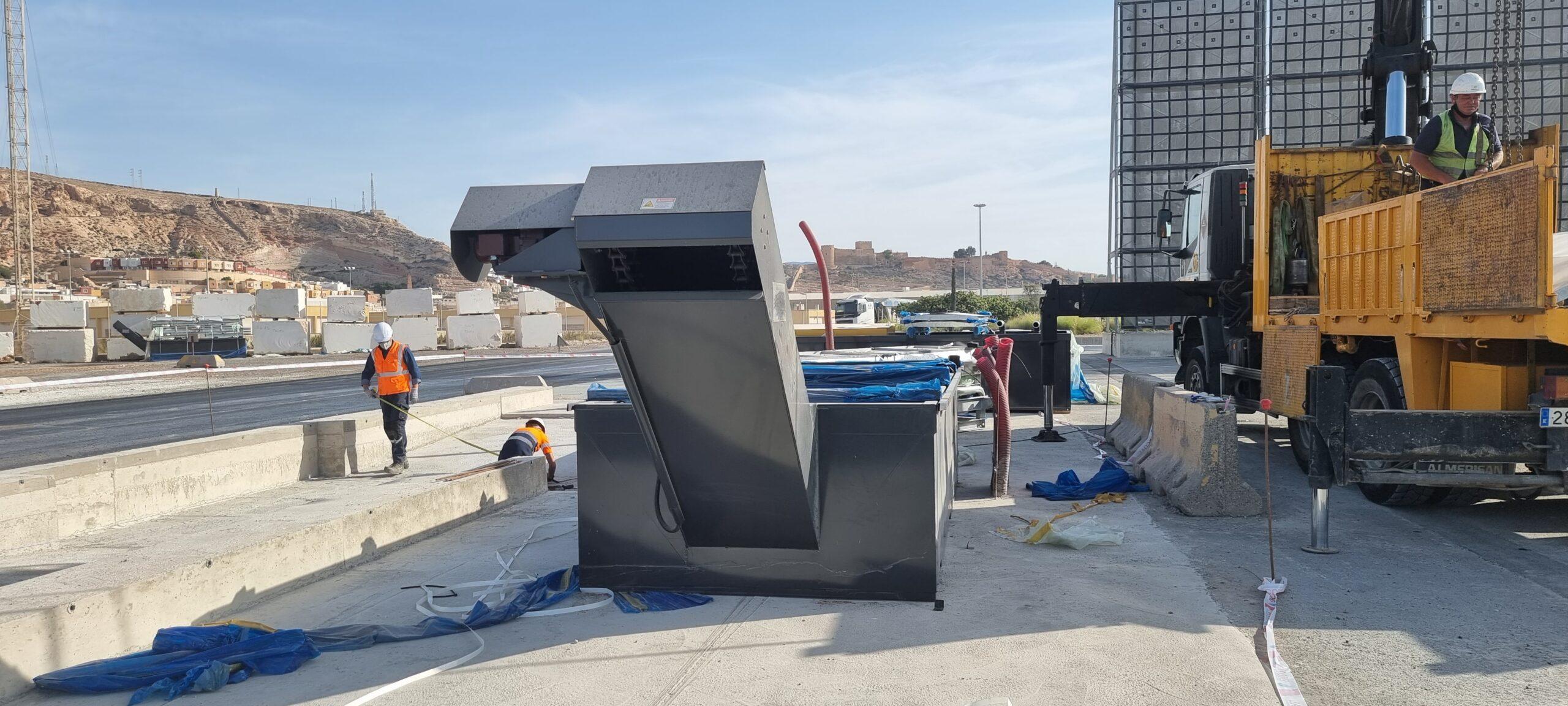 Las estaciones lava-ruedas del Puerto de Almería estarán en funcionamiento en breve
