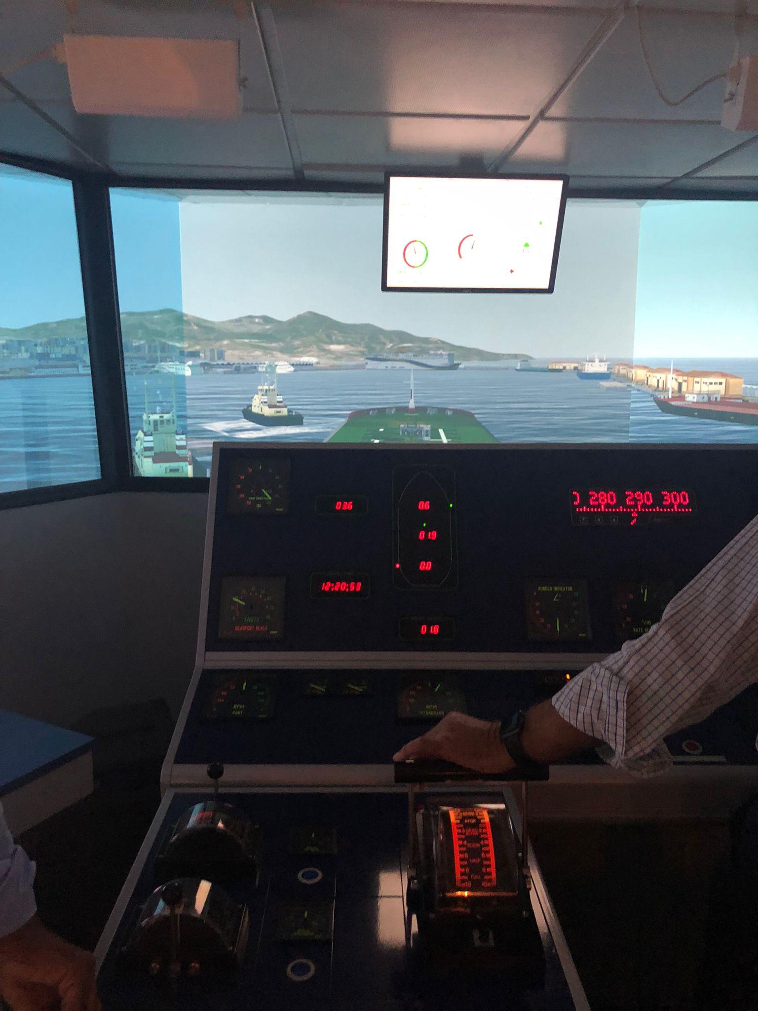 Puerto de Ceuta y Siport21 colaboran para realizar sesiones de entrenamiento en un simulador de maniobras de bunkering